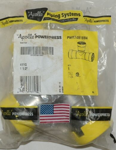 Apollo Powerpress Carbon Steel 411G 1 1/2 Inch Reducing Tee PWR7481694