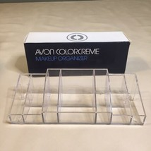 """Avon Clear Acrylic Makeup Holder Organizer with 10 Compartments NEW IN BOX 10"""" - $7.91"""