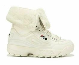 FILA Women's Disruptor Women's Size 8 M Shearling Athletic Sneaker Boots White - $67.54