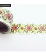 KEVIN&SASA® Washi Tape Glitter Colors Flower Stationery Decorative - $3.35