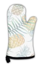 Oven Mitt, Watercolor Pineapples Tropical Plants And Fruits Exotic Pattern - $31.19