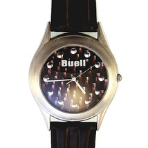 Buell Harley By Fossil, Sharp Extremely Rare Leather Band Watch, New Unw... - $127.56