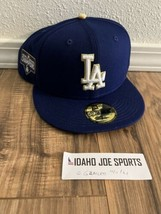 Los Angeles Dodgers 59FIFTY Gold Series Fitted Hat 2020 World Champs 7 3/4 - $44.95