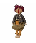 "Hearthside Collection  Rag Doll with Crow 22""  NIP - $39.00"