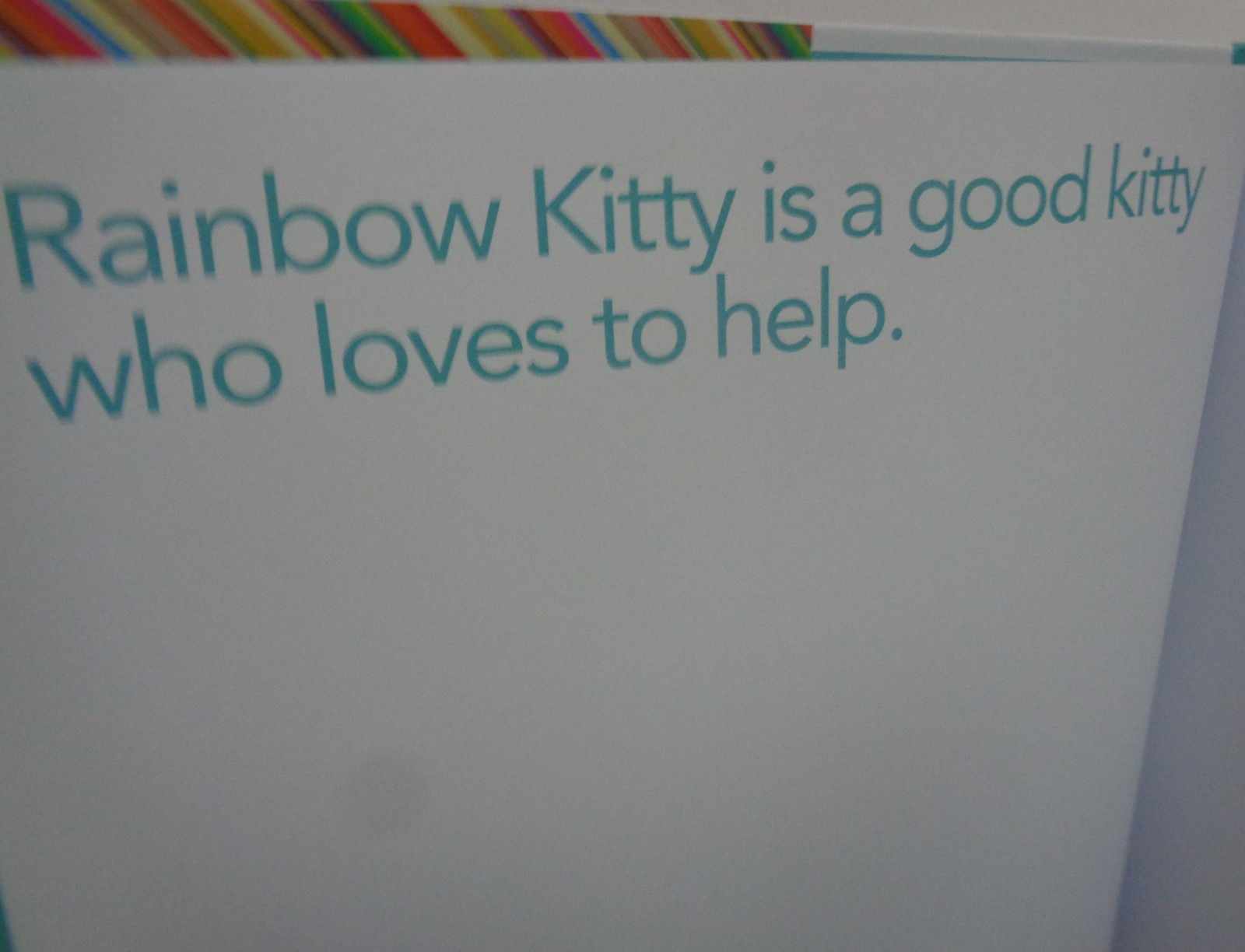 RAINBOW KITTY SAVES THE DAY Story Lines Write Your Own Book Brand New Hard Cover