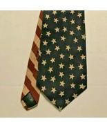 BEANS MCGEE Men's Tie Patriotic US Flag Stars Stripes Design Cotton Made... - $10.99