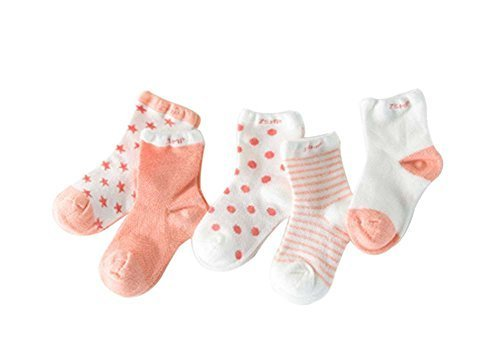 Five Pairs Summer Thin Section Mesh Cotton ORANGE Baby Socks