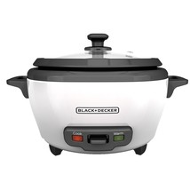BLACK DECKER RC506 6-Cup Cooked/3-Cup Uncooked Rice Cooker and Food Stea... - $20.59