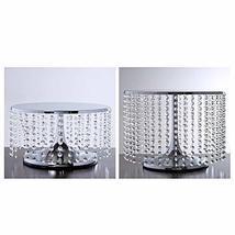 Silver Breathtaking Crystal Pendants Metal Chandelier Wedding Cake Stand... - $79.20