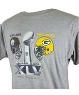 Super Bowl XLV Pittsburgh Steelers Green Bay Packers T Shirt Gray Men L ... - $16.99