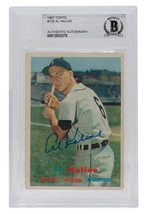 Al Kaline Signed 1957 Topps #125 Detroit Tigers Baseball Card BGS - $345.51