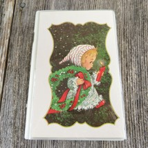 Vintage Christmas Card Book Music Box Child Santa Claus Is Coming To Town - $39.99