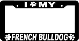 French Bulldog Dog Paw Print License Plate Frame - $4.49