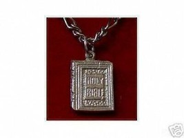 SALE Holy Bible Charm Sterling Silver .925 Jesus Jewelry - $14.58