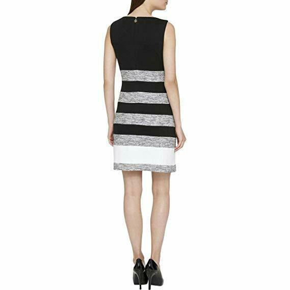 Tommy Hilfiger Women's Dress, Style TD7K1R9G, Black/Ivory, 12