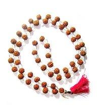 Ankita Gemstones Rudraksha Crystal 108 Bead Mala, Rudraksha Septik Mala - $34.30