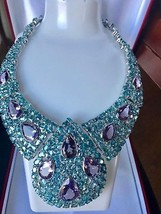 New Custom Huge 500+ct Natural Amethyst Zircon Silver SS necklace + Ring... - $14,999.99