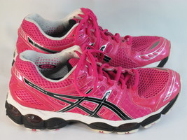 ASICS Gel Nimbus 14 Running Shoes Women's Size 7 US Excellent Condition Pink - $70.91