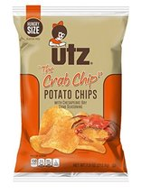 Utz Quality Foods Flavored Potato Chips 7.5 Ounce Hungry Size Bag (The Crab Chip - $30.17