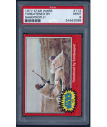 1977 Topps Star Wars #112, THREATENED BY SANDPEOPLE! PSA 9 MINT - $11.87