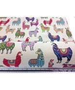 New World Tapestry Llama Fabric Material 3 Sizes - $2.88+