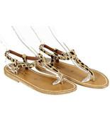 K Jacques St. Tropez J Crew Picon Sandals Calf Hair 7 Eu 37 Womens Shoes... - $119.59