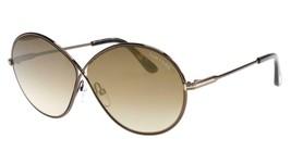 Tom Ford TF564 Rania-02 48G Shiny Bronze Frame Gradient Sunglasses 64mm - $183.33