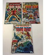 Marvel Comics The Invincible Iron Man Lot #122 #123 #124 1979 - $18.80