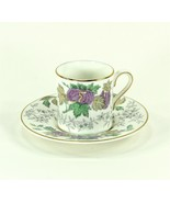 Wedgwood Avon 3983 Flat Demitasse Cup and Saucer, Bone China Lavender Floral - $9.99