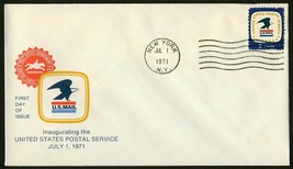 USPS Inauguration Juli 1,1971-new York Ny Any 4 = - $1.09