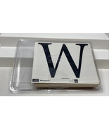 """Stampin' Up W Monogram Initial Single Letter Alphabet 2006 Large 4.5"""" Wood - $14.84"""