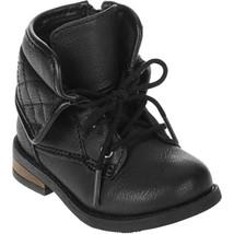 Garanimals Baby Girls Combat Boots Size 3 Black Color NEW - £12.14 GBP