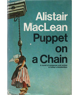 ESPIONAGE: Puppet On A Chain By Alistair MacLean ~ Hardcover DJ 1969 - $6.99