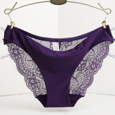 Hot sale! l women's sexy lace panties seamless cotton breathable panty Hollow br