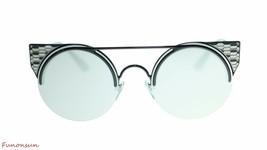 BVLGARI Women's Round Sunglasses BV6088 2396G Black/Grey Mirror Lens 54mm - $251.23