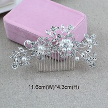 Classic Designs Floral Wedding Hair Accessories Simulated Pearl Crystal ... - £6.40 GBP