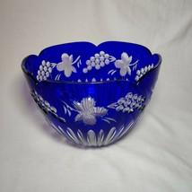 Faberge Cobalt Blue Crystal Bowl - $350.00