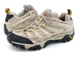 Merrell Womens 8.5 Moab Ventilator Taupe Vibram Sole Hiking Sneaker Shoes EUR 39 - $38.99
