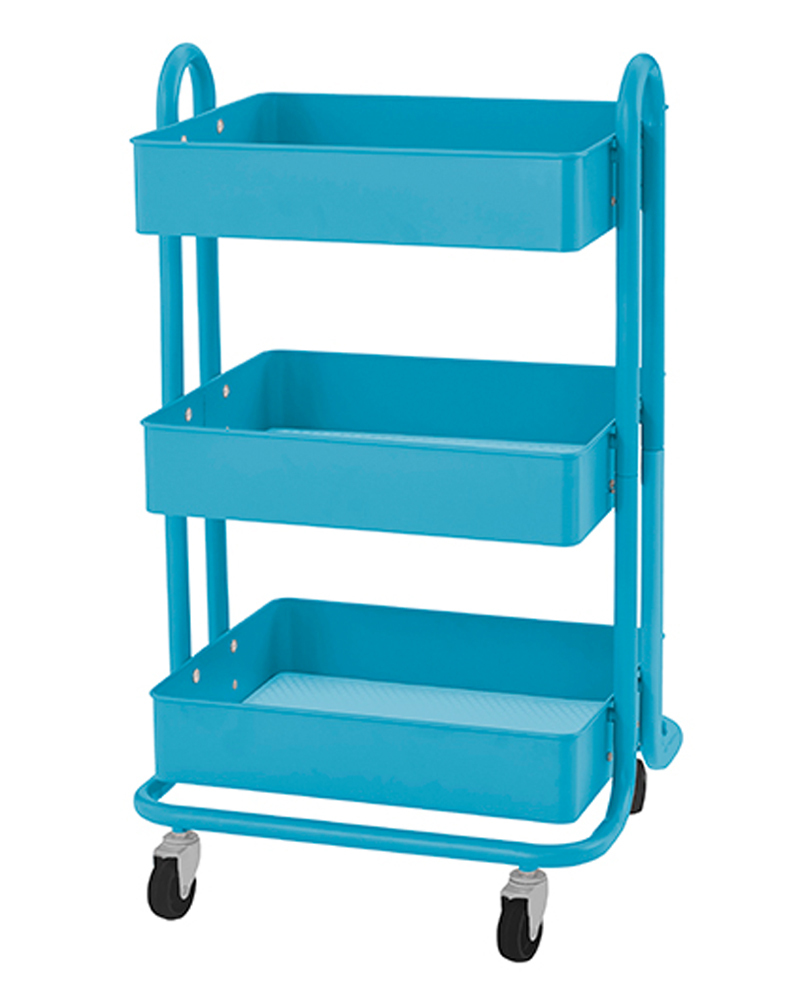 Primary image for RASKOG Home Kitchen Bedroom Storage 3 Tier Utility Rolling Cart - Turquoise