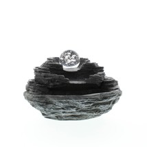 Fountain, Electric Tiered Rock Tabletop Water Fountains Indoor - Polyresin - $71.09
