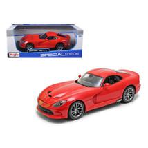2013 Dodge Viper GTS SRT Red 1/18 Diecast Model Car by Maisto 31128r - $46.47