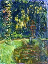 Water Lily Pond at Giverny Painting by Claude Monet Art Reproduction - $32.99+