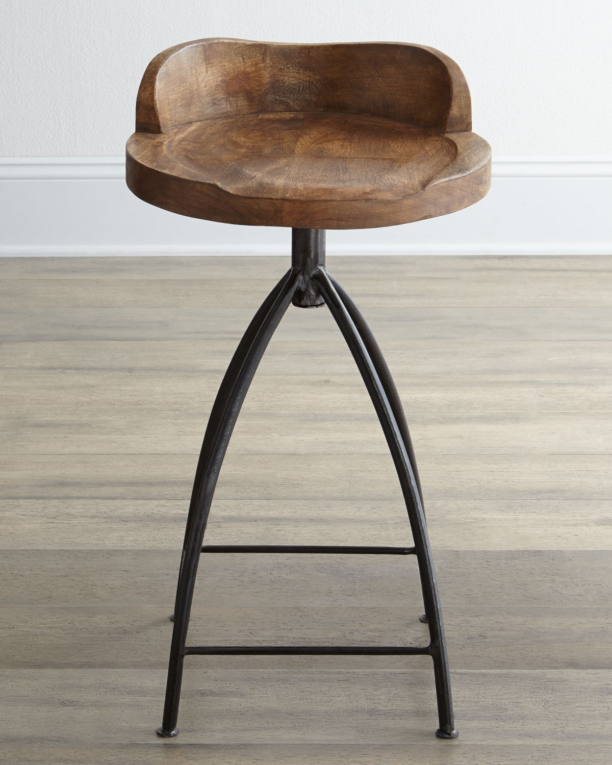 Horchow Arteriors Swivel Counter Stool Industrial
