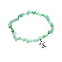 Silver Charming Turtle Beach Ankle Bracelet Handmade Healing Stones Bead... - $24.54