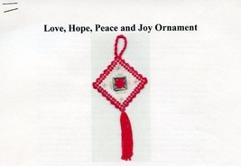 Love Hope Peace and Joy Ornament Hardanger Pattern - 30 Days to Shop & Pay - $5.37