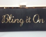 "Bolso de Mano Inc International Concepts Nwt "" Bling It en ""Serpiente Piel Oro"