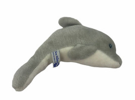"Sea World Bottlenose Dolphin 10"" Long Gray White Vintage 1989 Plush Stuffed - $9.89"
