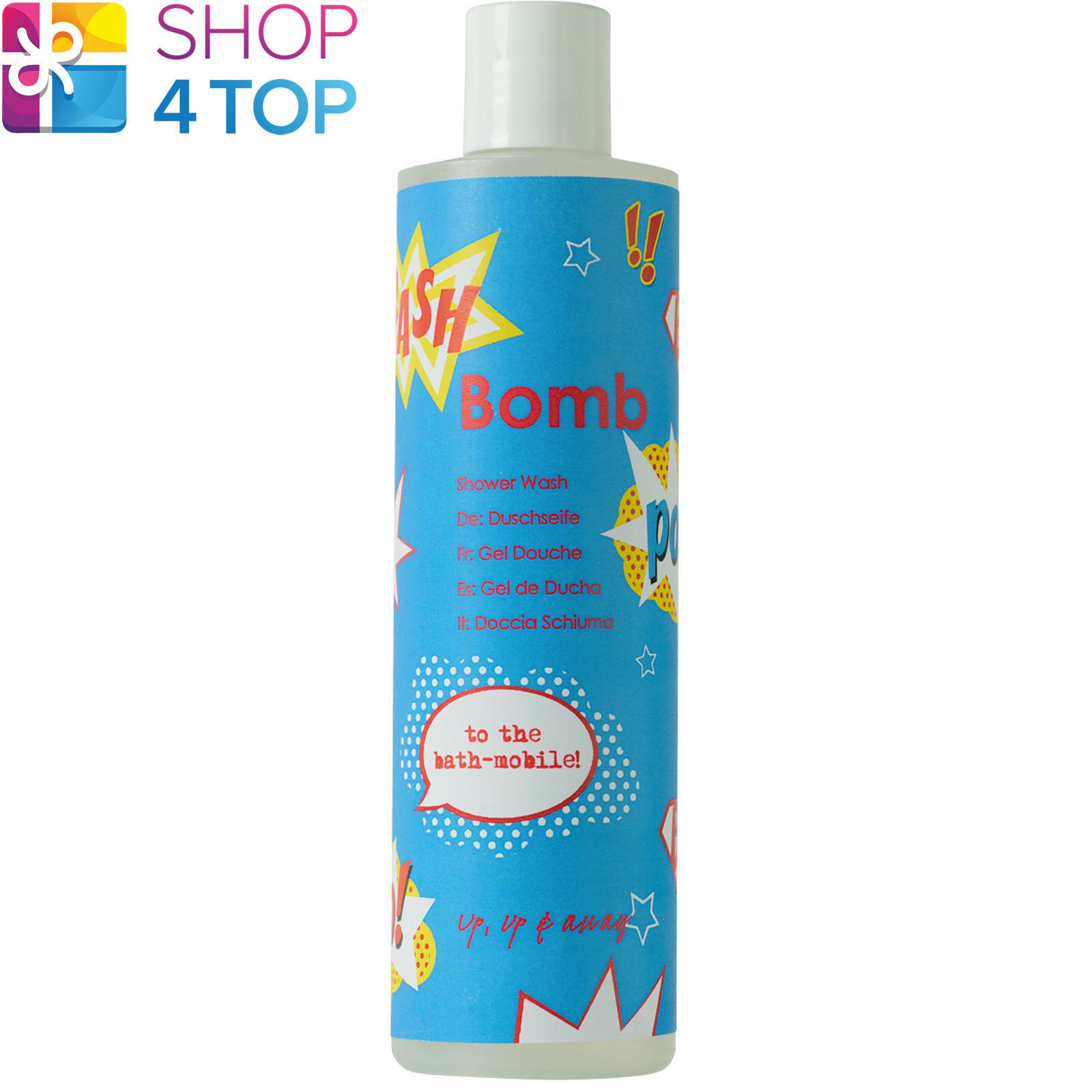 UP UP & AWAY SHOWER GEL 300 ML LIME BLACK PEPPER NATURAL BOMB COSMETICS NEW - $11.77
