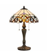 Tiffany Style Table Desk Lamp Victorian Modern Base Stained Glass Home D... - $119.99