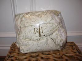 Ralph Lauren Yorkshire Rose Tonal Vine Cream King Bedskirt NIP - $58.15